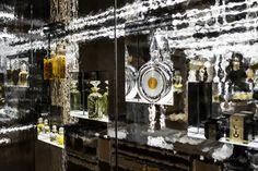 Guerlain Boutique by Peter Marino Architect Retail News, Hall Of Mirrors, Perfume Store, Retail Concepts, Shopping Malls, Paris Hotels, Parisian, Ladder Decor, Peter Marino