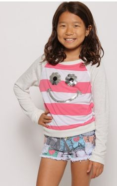 SMILEY BOUTIQUE TOP Price: $24.99, Free Shipping Options: 4T, 6, 8, 10  Comment sold then click on the picture to purchase :)