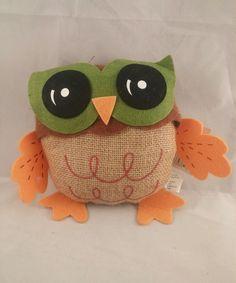 Owl Hanging Door Decor Fabric Fall Harvest New #perfectHarvest