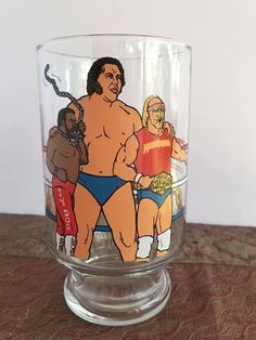 Your place to buy and sell all things handmade Wrestling Superstars, Wrestling Divas, Wwf Toys, Famous Wrestlers, John Morrison, Roddy Piper, Andre The Giant, Hulk Hogan, Vintage Glassware