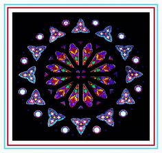 Robert Fertitta's stained glass rose window collection