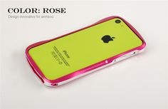 Silm Waist Aluminum Alloy Protective Metal Bumper Shell Case Cover for APPLE IPHONE5C