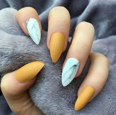 44 Latest Nail Trends And Designs 2019 - Gucci Nails - Ideas of Gucci Nails - 44 Latest Nail Trends And Designs 2019 style you 7 Matte Nails, Acrylic Nails, Stiletto Nails, Acrylics, Hair And Nails, My Nails, Nails Yellow, Nagellack Trends, Nail Trends