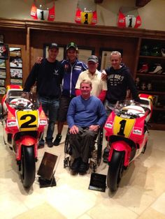 Vale with the legends of Moto gp