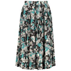High Waisted Floral Print Pleated Midi Skirt, COLORMIX, ONE SIZE in Skirts | DressLily.com