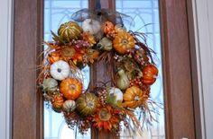 DIY fall wreath idea for the front door.