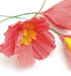 Crepe Paper Flower Tutorials