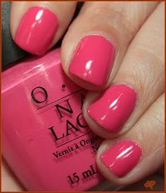 OPI Strawberry Margarita from the Mexico collection.