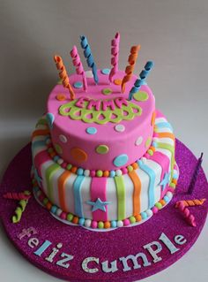 Violeta Glace, tortas infantiles