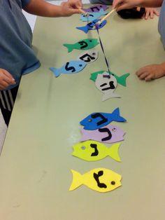 fishing otiot: make foam rubber fish and play Otiot magnetic fishing