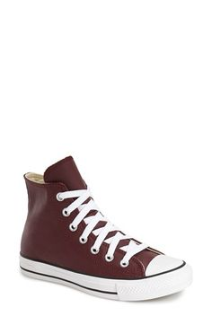 Converse Chuck Taylor® All Star® Leather High Top Sneaker (Women) available at #Nordstrom