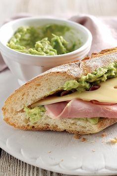 Ham, Cheese, and Avocado Baguette