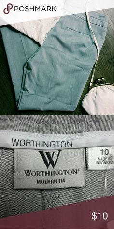 Grey slacks Cute and in great condition! B4 Worthington Pants Straight Leg
