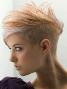 Womens mohawk/undercut/pompador.... In blk and blu...or purple wld be just right for me!