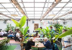 An indoor fish pond and full glass roof make this one of Melbourne's quirkiest venues. Melbourne Coffee, Brunswick Street, Sunday Sessions, How Did It Go, Food Vans, Retail Interior Design, Great Place To Work, Fish Ponds, Small Cafe