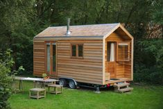 Small Tiny House, Tiny House Plans, Tiny House On Wheels, Trailer Diy, Tin House, Shepherds Hut, Cabin Homes, Tiny Living, Custom Homes