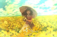 A Carpet of Yellow Rapeseed Flowers - pixiv Spotlight