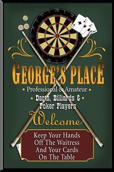 Personalized Custom Game Room Bar Sign