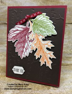 Stampin\' Up! Vintage Leaves card created by Mary Kiley for Stamping to Share Demo Meeting Swap. #stampingtoshare