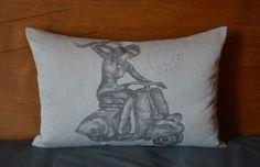 Kissen aus Geschirrtuch / Pillow case made from tea towel / Upcycling