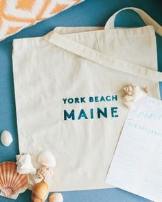Silk-screened totes with Cape Cod potato chips, water bottles, and a list of local must-sees