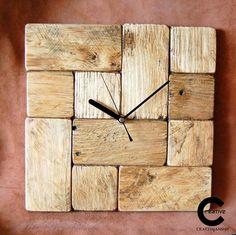 Wall Clock Wooden, Rustic Wall Clocks, Led Wall Clock, Diy Clock, Wood Clocks, Wooden Walls, Wood Pallets, Pallet Wood, Pallet Clock