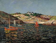 Le cœur du Port de Goulphar, Belle-Ile-en-Mer, 1909 de Maxime Maufra (1861-1918, France)
