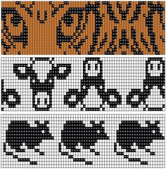 Missä neuloimme kerran: 17.12. Cross Stitch Borders, Cross Stitch Animals, Cross Stitch Designs, Cross Stitch Patterns, Fair Isle Knitting Patterns, Knitting Charts, Knitting Stitches, Motif Fair Isle, Fair Isle Chart
