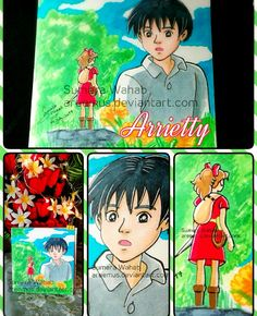 """""""Arrietty""""..my favorite anime cartoon...Made it with """"Touch Five Markers""""...I'm in love with them....I'm actually happy how bright the drawing ...yup I edit abit in """"Line camera app""""... Thanx! Sumera Wahab~"""