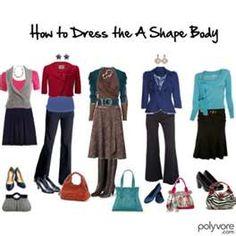 how to dress the A body shape