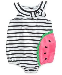 First Impressions Baby Girls' Watermelon Sunsuit