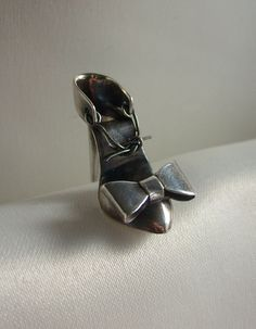 Fancy Slippers Dollhouse Miniature Unfinished Metal Shoes