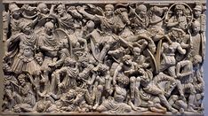 Sarcophagus with battle scene know as the Great Ludovisi sarcophagus. Proconnesus marble. Mid-3rd century CE. 153х273х137 см. Inv. No. 8574. Rome, Roman National Museum, Palazzo Altemps. (Photo by I. Sh.).