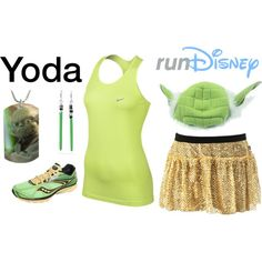 """""""Star Wars Yoda Running Outfit"""" by mamaspartydress on Polyvore"""