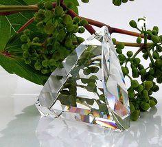 Anhänger, Dreieck gewölbt  Kristall-Glas, 30% Bleigehalt