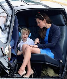 Prince George was shown the inner workings of a helicopter and the cockpit of a Red Arrow ...