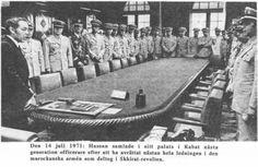 Hassan 2 avec les officiers supérieurs des FAR #Casablanca #Maroc #Morocco #Moroccan #History