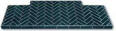 Plain Oblong Glazed Tile Fireplace Hearths | Twentieth Century Fireplaces