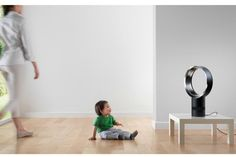 Bladeless Dyson Cool Fans: Safe enough for babies, and no noisy motors