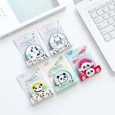 6 Rolls - Cute Panda Washi Tape Set - NotebookTherapy