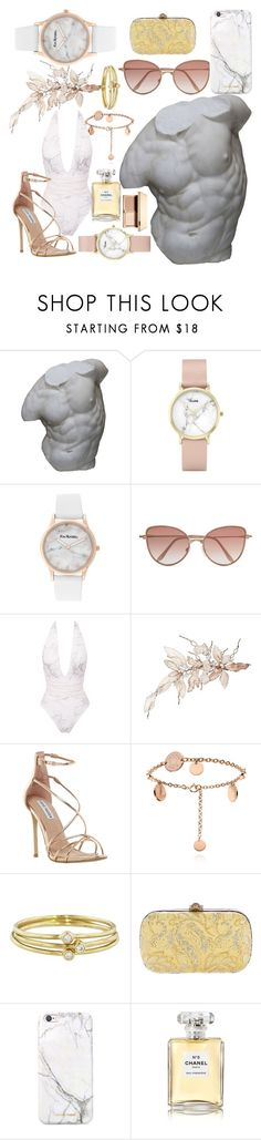 """Marble etc."" by tortugas ❤ liked on Polyvore featuring Romanelli, CLUSE, Kim Rogers, Cutler and Gross, Steve Madden, Jennifer Meyer Jewelry, Gucci, russell+hazel, Chanel and Clarins"
