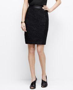 Petite Corded Lace Pencil Skirt