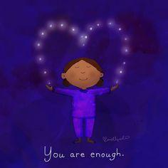 You are enough. Tiny Buddha, Little Buddha, Buddha Life, Positive Attitude, Positive Quotes, Buddah Doodles, Words Quotes, Life Quotes, Buddha Thoughts