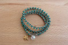 Beachy Crochet Wrap Bracelet/ Necklace Boho by monroejewelry