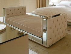 Visionnaire Upholstery Magnolia Upholstered Fabric Italian Benches with Capitonne Embroidered Sides