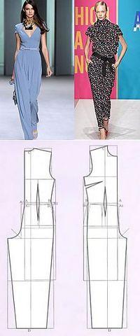 Padrão jumpsuit | WomaNew.ru - aulas de costura!