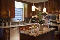Kitchen light fixtures over island