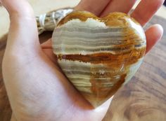 Pakistani Onyx Heart ~ One Reiki Infused gemstone heart approx 3 x 3 inches (H03) by Kiliamma on Etsy