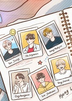 Cute Wanna One's Cartoon Art Cute Tumblr Wallpaper, Cute Wallpapers, Artwork Images, Art Pictures, I Luv U, My Love, Korean Couple, Ha Sungwoon, First Art