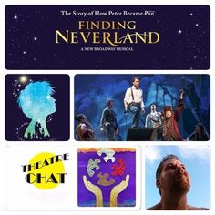 Dan Mojica photo was symbolic along with Finding Neverland logo.